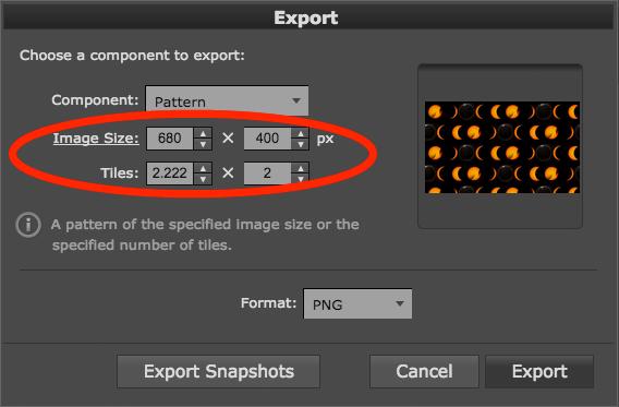 Fixed image size