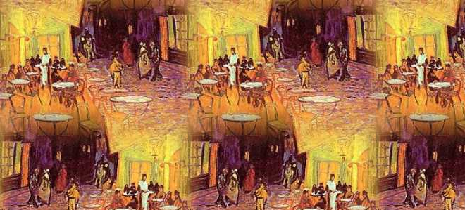 Listing for Cafe Terrace at Night from the Infinite van Gogh series