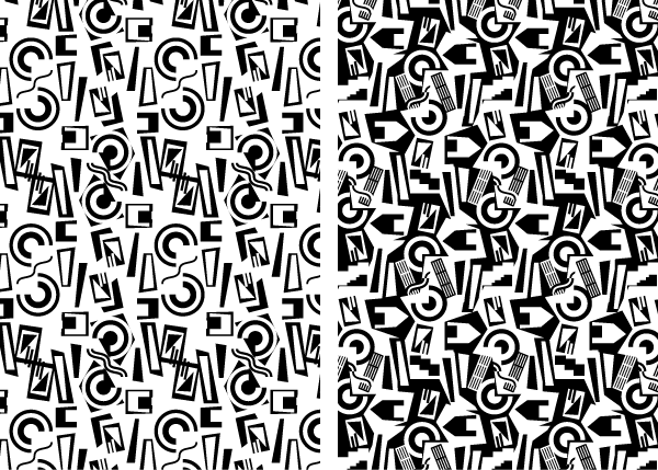Notan pattern design studies