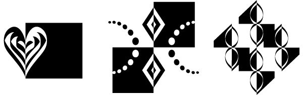 Notan studies (symmetry)