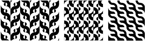 Positive-negative patterns (inverted-shapes)
