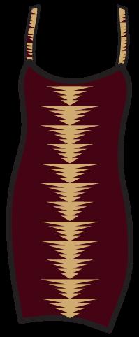 A geometric pattern on a  tank dress.